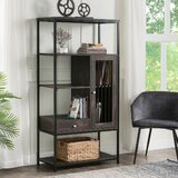 Gannaway 61'' H x 31.4'' W Steel Etagere Bookcase by 17 Stories