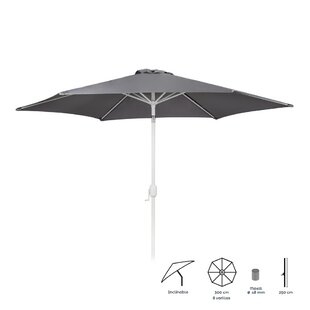 Nathan 3m Traditional Parasol By Freeport Park