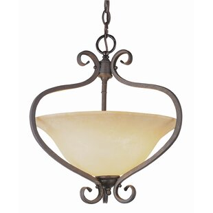 Charlton Home Blue Heron 2-Light Bowl Pendant