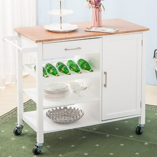 August Grove Sherrill Kitchen Cart