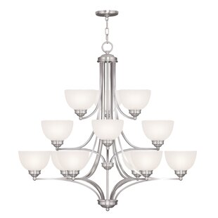 Alcott Hill Irwin 12-Light Shaded Chandelier