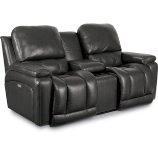 Price comparison Greyson Leather Power Reclining Loveseat by La-Z-Boy Reviews (2019) & Buyer's Guide