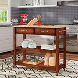 Haslingden Kitchen Cart by Three Posts