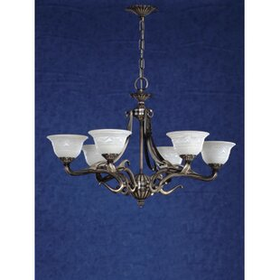 Zanin Lighting Inc. Saraso 6-Light Shaded Chandelier