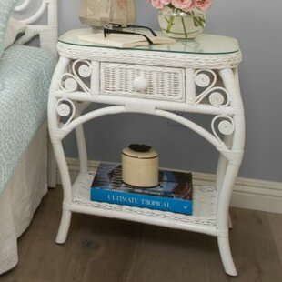 Rosana Rattan Side Table by Bayou Breeze