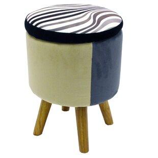 Zebra Footstool By 17 Stories