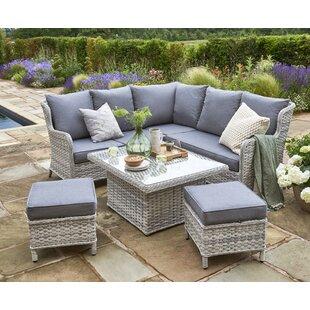 Manraj 6 Seater Rattan Corner Sofa Set Image