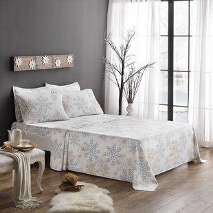 Brielle Snowflake 100% Cotton Sheet Set