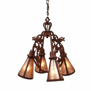 Steel Partners Bavarian 4-Light Shaded Chandelier