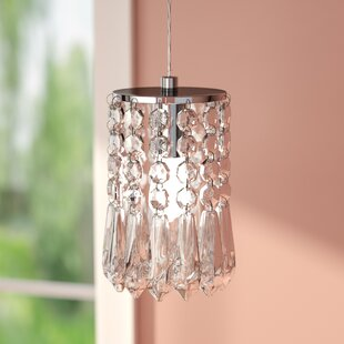 Descoteaux 1-Light Crystal Mini Pendant by Lark Manor