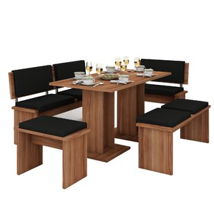 Clarendon 5 Piece Breakfast Nook Dining Set by Loon Peak
