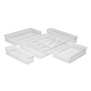 Rebrilliant 5 Piece Drawer Organizer Set