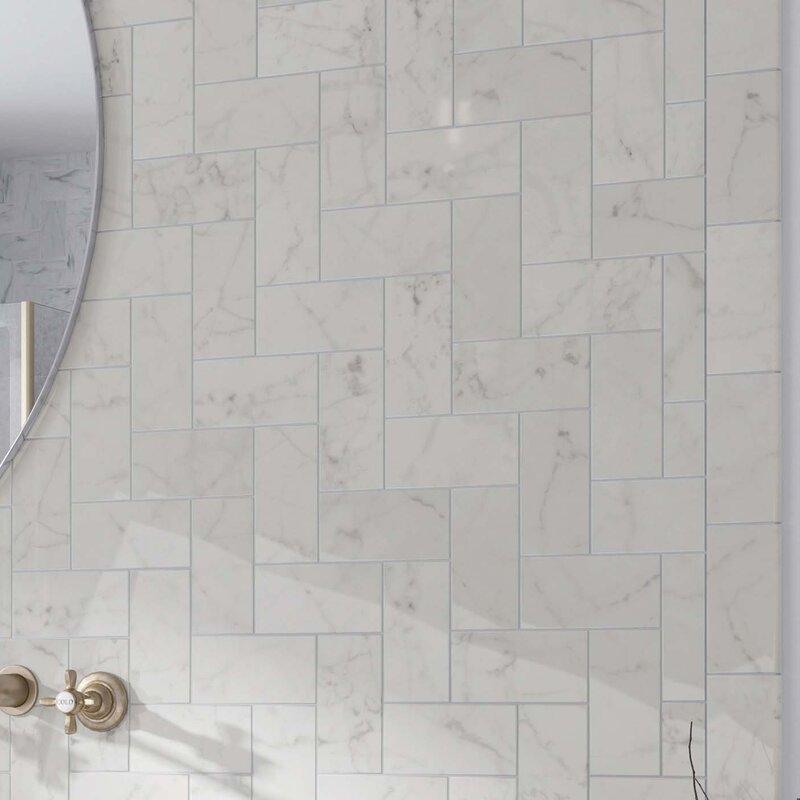 Elitetile karra carrara 3 x 6 ceramic subway tile in glossy white karra carrara 3 x 6 ceramic subway tile in glossy ppazfo