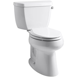 Kohler Highline Classic Comfort Height Two-Piece Elongated 1.28 GPF Toilet with Class Five Flush Technology and Right-Hand Trip Lever
