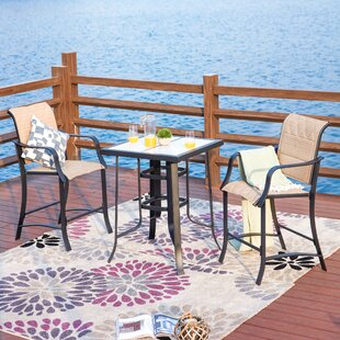 Stover 3-Piece Outdoor Bistro Set by Charlton Home