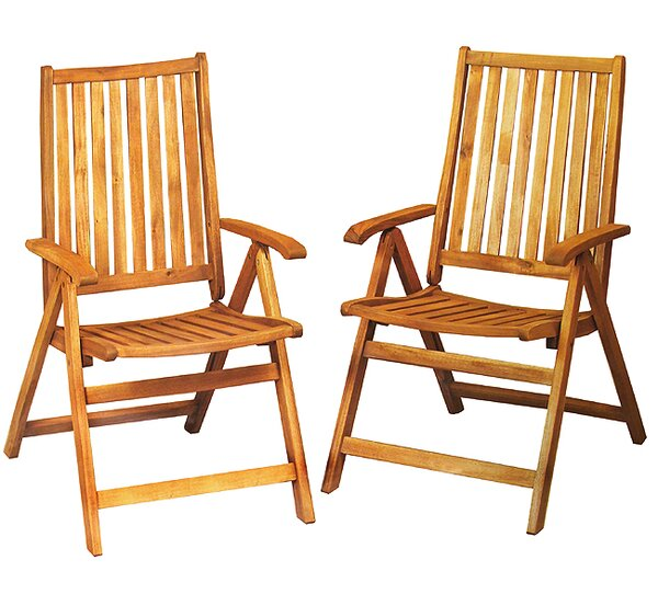 Wooden Folding Chairs northlight acacia wood folding chairs outdoor patio furniture