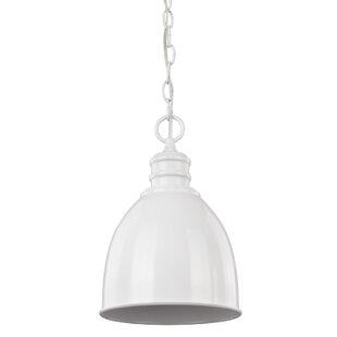 Dollard 1-Light Bell Pendant by Gracie Oaks