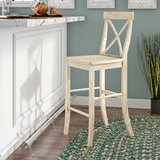Fortunata Solid Wood Bar Stool by Birch Lane™ Heritage