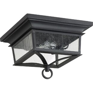 Bridport 2-Light Outdoor Flush Mount By Canora Grey Outdoor Lighting