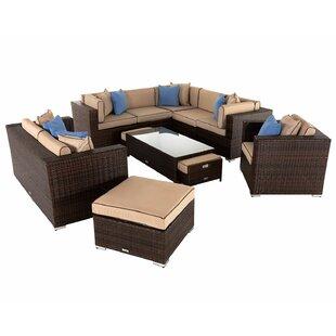 Felton 8 Seater Rattan Corner Sofa Set Image