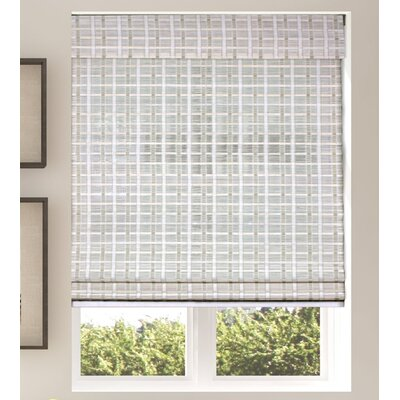 "Semi-Sheer Whitewash Roman Shade Mistana Blind Size: 30"" W x 74"" L"