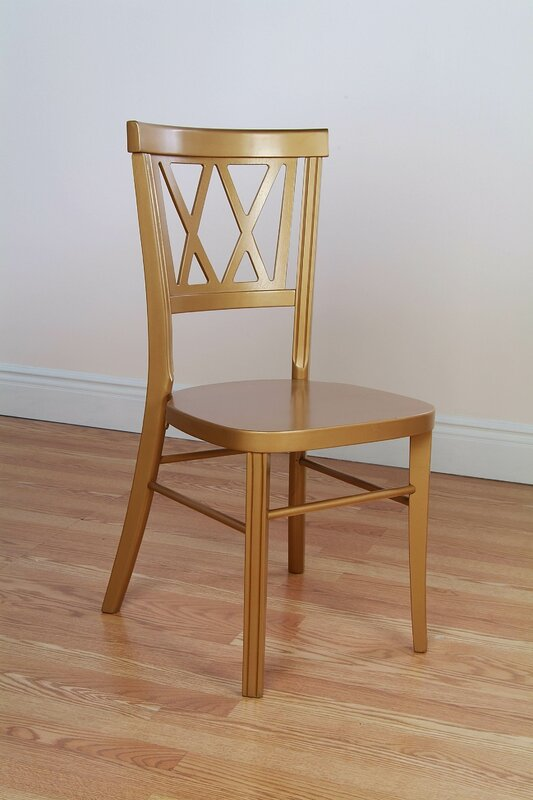 Double X Stackable Solid Wood Dining Chair (Set Of 2) By Benkel Seating