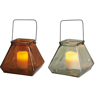 Hearth and Home Glass Harvest Hurricane (Set of 2)