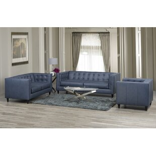 17 Stories Pranzal 3 Piece Living Room Set