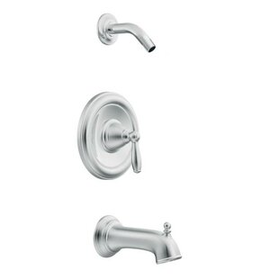 Reviews Brantford PosiTemp® Tub and Shower Faucet Trim with Lever Handle and Posi-Temp ByMoen