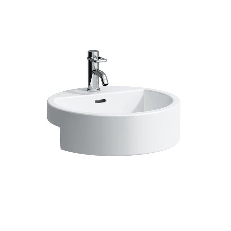 Laufen Living City White Ceramic Handmade Circular Vessel Bathroom Sink With Overflow Perigold