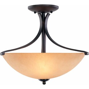 Rainier 3-Light Semi Flush Mount by Volume Lighting