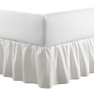 Solid 100% Cotton Panel by Laura Ashley Home 14.5 Bed Skirt