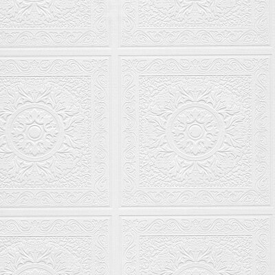 """Jarvis 33' x 21"""" Textured Paintable Roll Wallpaper"""