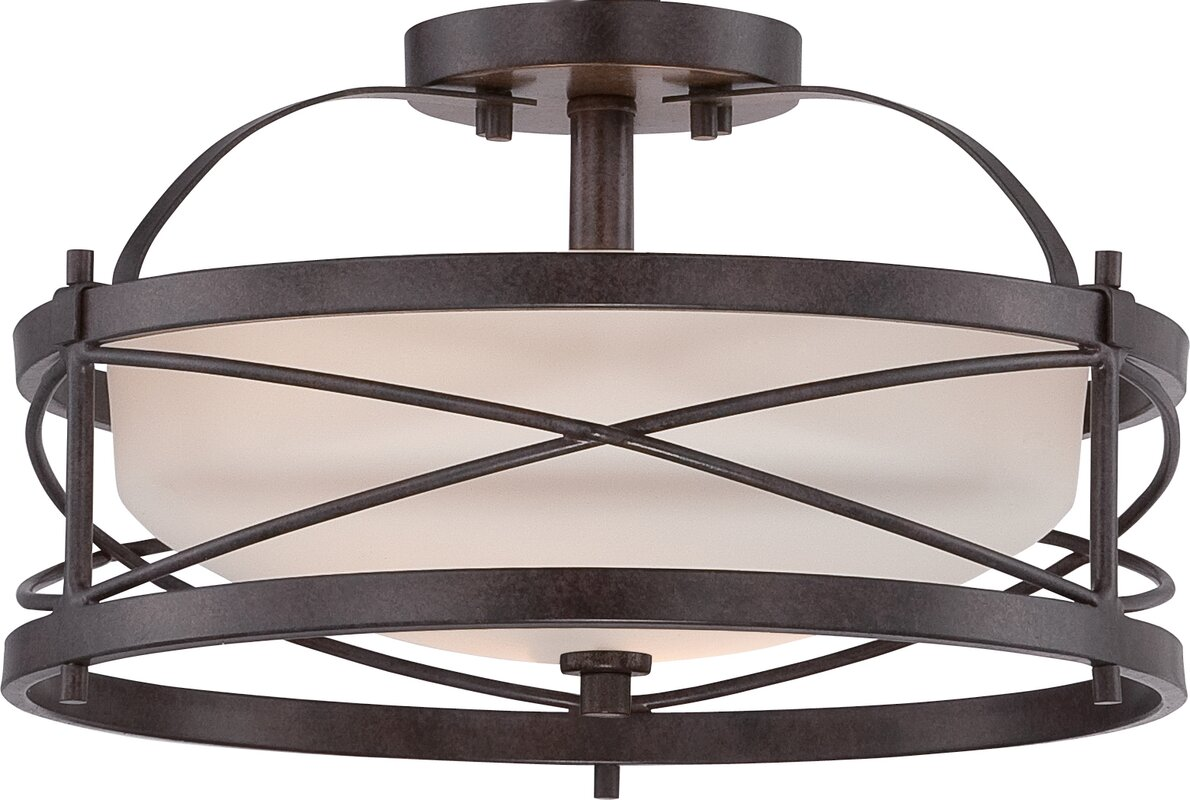 Remy 2-Light Semi-Flush Mount  sc 1 st  Joss u0026 Main & Remy 2-Light Semi-Flush Mount u0026 Reviews | Joss u0026 Main azcodes.com