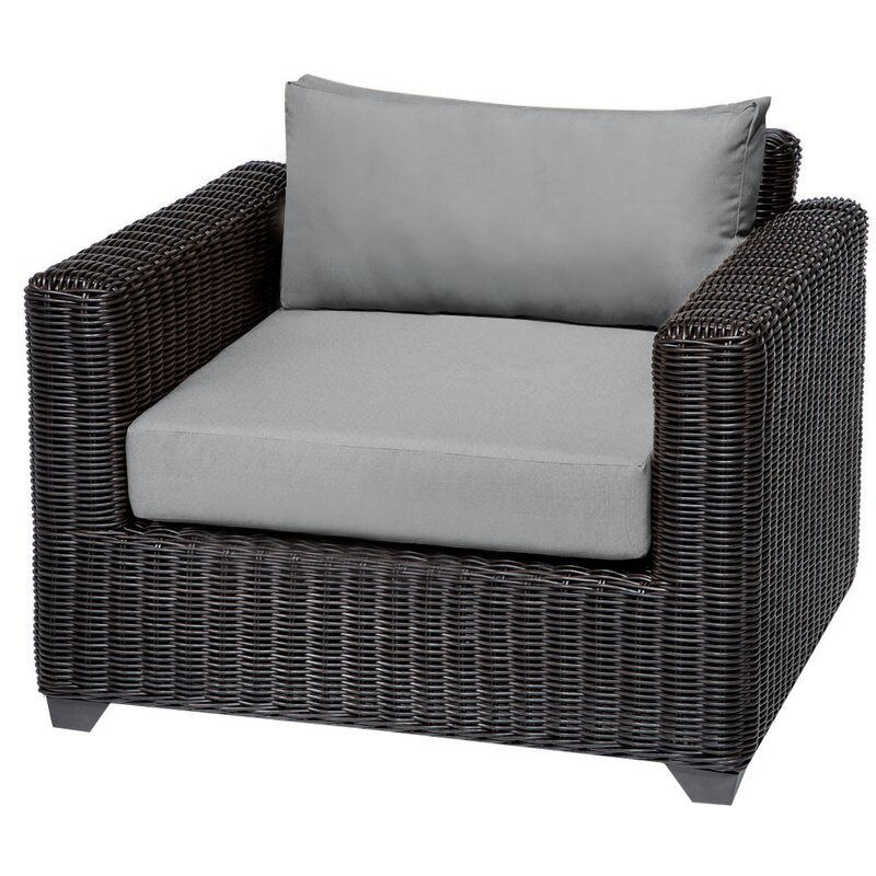 Sol 72 Outdoor  Fairfield Patio Chair with Cushions Cushion Color: Gray