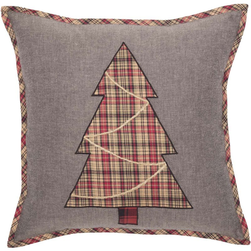 Nettleton Tree 100% Cotton Throw Pillow. Holiday decor inspiration with plaid, checks, and tartans! Come be inspired by this classic pattern for Christmas decorating. #plaid #christmasdecor #holidayinspiration #checks #decorating #inspiration