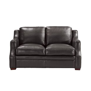 Darby Home Co Chico Leather Loveseat