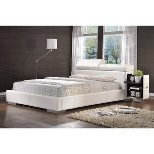 Taliaferro Comfy Leatherette Queen Upholstered Sleigh Bed