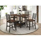 Oretta 5 Piece Counter Height Dining Set by Gracie Oaks