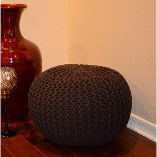 Lysette Round Hand Knitted Braided Comfortable Pouf by Wrought Studio