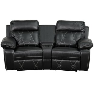 Red Barrel Studio Traditional Faux Leather Home Theater Recliner