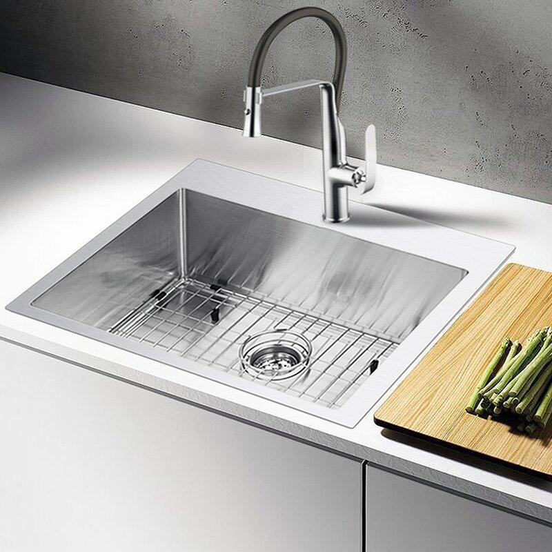 Water creation 25 x 22 drop in kitchen sink reviews joss main water creation 25 x 22 drop in kitchen sink workwithnaturefo