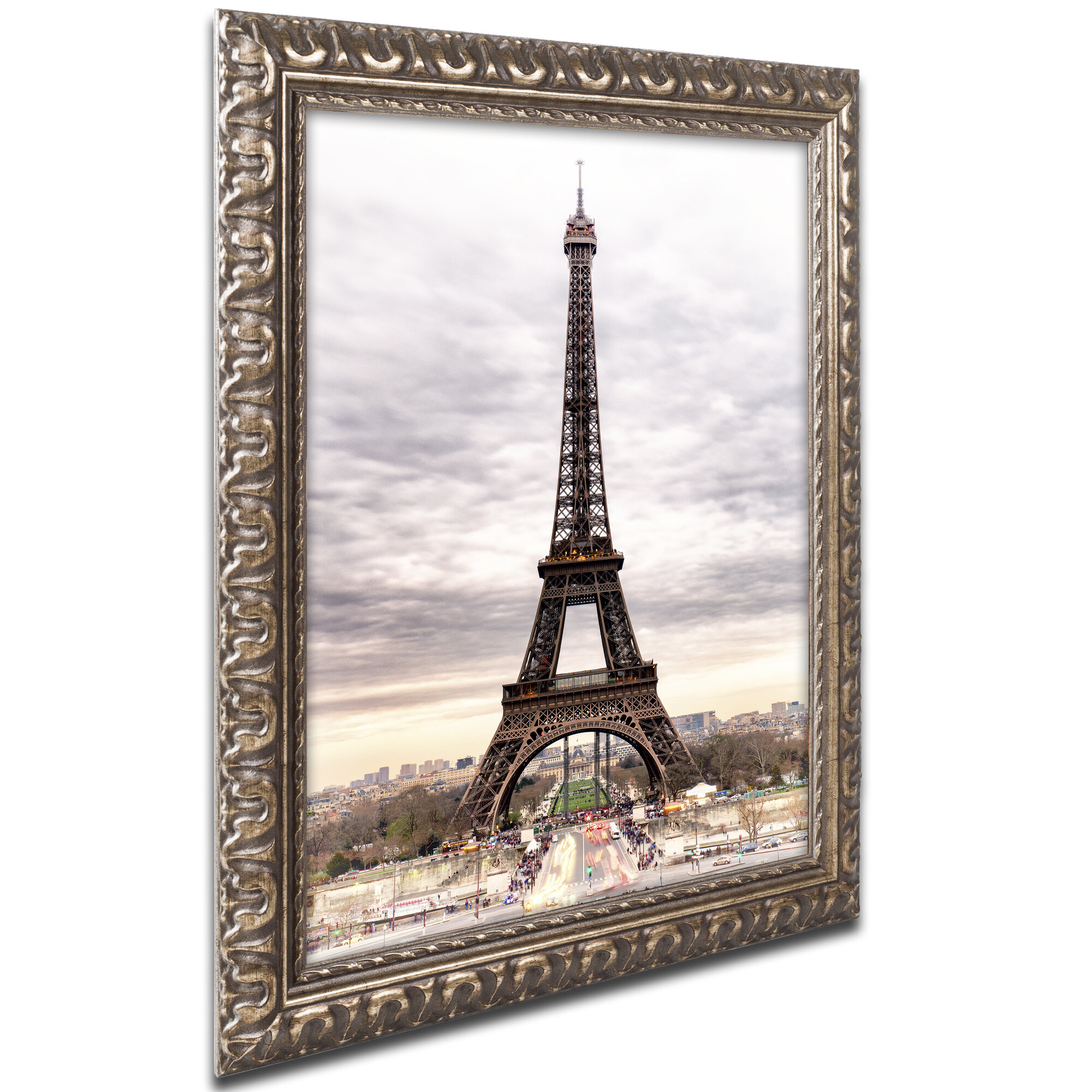 Latitude Run The Eiffel Tower Framed Photographic Print Wayfair