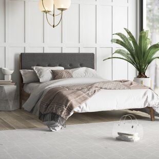 Hayworth Upholstered Platform Bed by Mercury Row