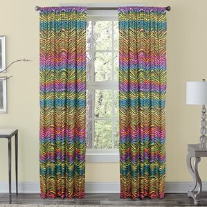 Animal Print Curtains U0026 Drapes Youu0027ll Love | Wayfair