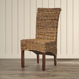 Saratoga Upholstered Side Dining Chair in Brown by Bay Isle Home
