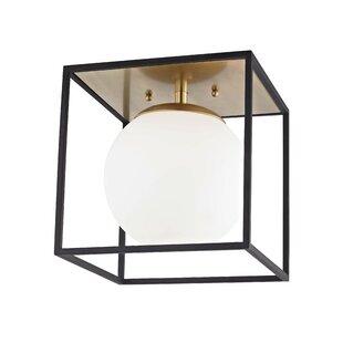 Brayden Studio Garza 1-Light Semi Flush Mount