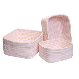 3 Piece Ticking Stripe Basket Set