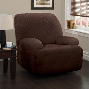 Diamond Box Cushion Recliner Slipcover