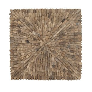 Natural Burst Style Square Driftwood Wall Décor